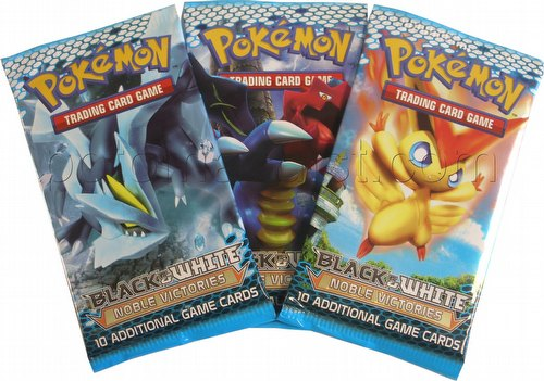Pokemon TCG: Black & White Noble Victories Booster 3-Pack Lot