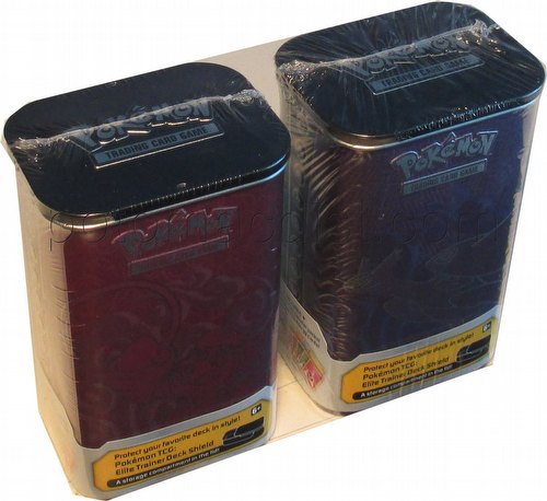 Pokemon TCG: 2015 Elite Trainer Deck Shield Tin Set [2 tins/Fall 2015/With Energy Cards]