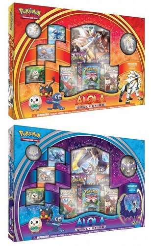Pokemon TCG: Alola Collection Set [1 Solgaleo box & 1 Lunala box]