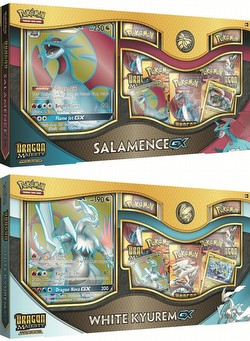 Pokemon TCG: Dragon Majesty Special Collection - Salamence-GX & White Kyurem-GX Set [one of each]