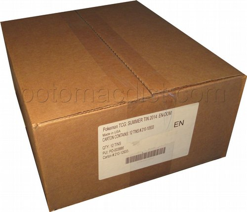 Pokemon TCG: 2014 Kalos Power Tin Case [12 tins/Summer 2014]