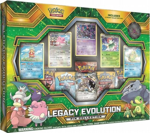 Pokemon TCG: Legacy Evolution Pin Collection Box