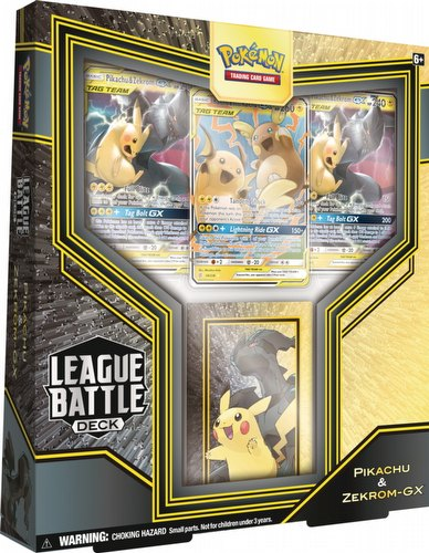 Pokemon TCG: Pikachu & Zekrom-GX League Battle Deck Box