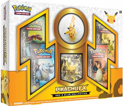 Pokemon TCG: Red & Blue Collection Pikachu-EX Box