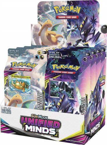 Pokemon TCG: Sun & Moon Unified Minds Theme Starter Deck Box