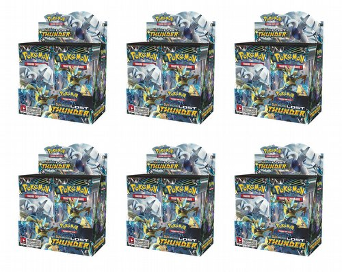 Pokemon TCG: Sun & Moon Lost Thunder Booster Box Case [6 boxes]