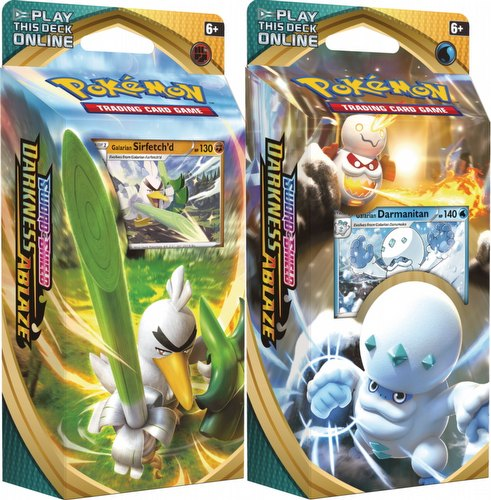 Pokemon TCG: Sword & Shield Darkness Ablaze Theme Starter Deck Set [2 decks]
