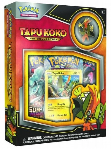 Pokemon TCG: Tapu Koko Pin Collection Box
