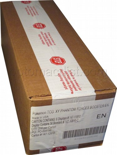 Pokemon TCG: XY Phantom Forces Booster Box Case [6 boxes]