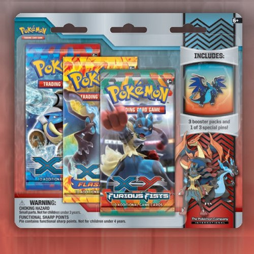 Pokemon TCG:  XY Mega-Evolution Collector Pin 3-Pack Case [24 packs]