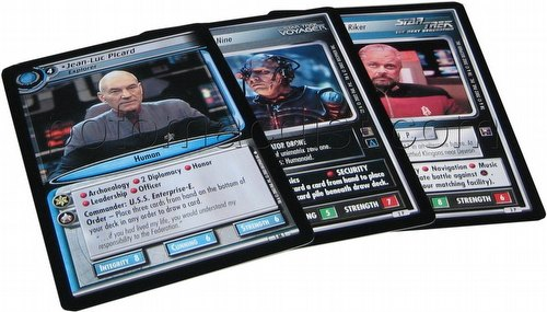 """Star Trek CCG: 5""""x7"""" Oversized Promo Card Set"""