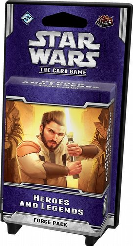 Star Wars The Card Game: Echoes of the Force Cycle - Heroes and Legends Force Pack Box [6 packs]