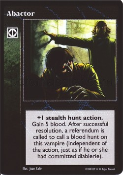 Vampire: The Eternal Struggle CCG Abactor Promo Card