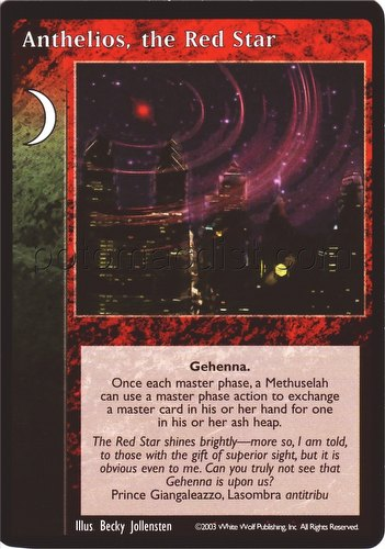 Vampire: The Eternal Struggle CCG Anthelios the Red Star Promo Card