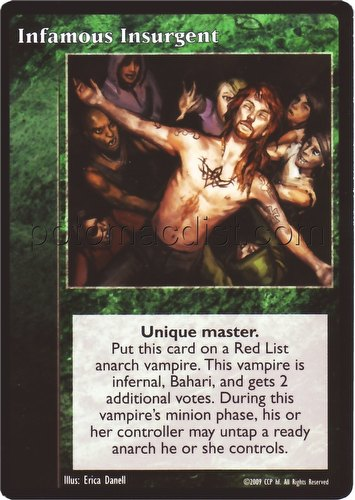 Vampire: The Eternal Struggle CCG Infamous Insurgent Promo Card
