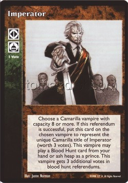 Vampire: The Eternal Struggle CCG Imperator Promo Card