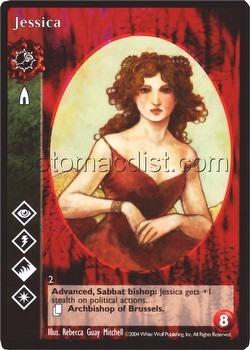 Vampire: The Eternal Struggle CCG Jessica Promo Card