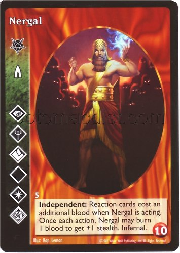 Fedex Box Prices >> Vampire TES: Promo Card - Nergal   Potomac Distribution