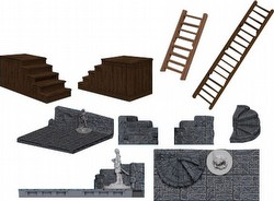 WarLock Dungeon Tiles: Stairs & Ladders Set Box