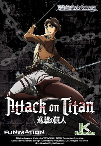 Weiss Schwarz (WeiB Schwarz): Attack on Titan Booster Case [English/16 boxes]