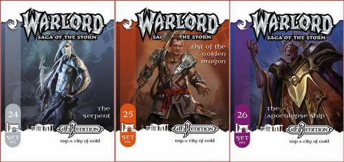 Warlord CCG: 4th Edition Exp. #4 City of Gold - Fist/Apocalypse/Serpent Adv. Path Sets (#24/#25/#26)