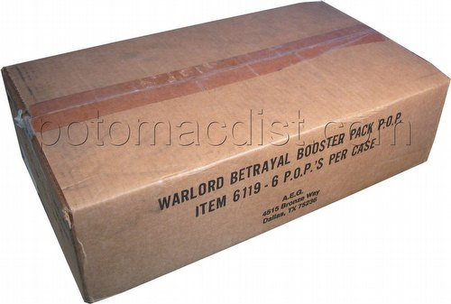 Warlord CCG: Betrayal Booster Box Case [6 boxes]
