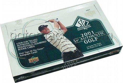 01 2001 Upper Deck SP Authentic Golf Cards Box