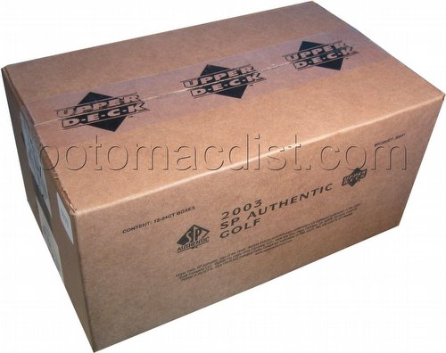 03 2003 Upper Deck SP Authentic Golf Cards Case [Hobby/12 boxes]