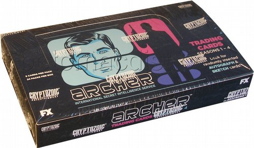 Archer Seasons 1 - 4 Trading Cards Box