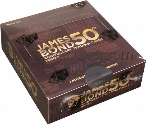 James Bond 50th Anniversary Series 2 Trading Cards Box
