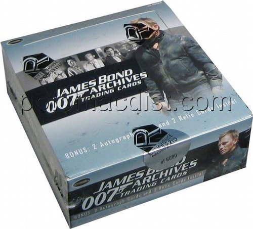 James Bond Archives Trading Cards Box
