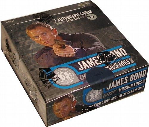 James Bond Mission Logs Trading Cards Box