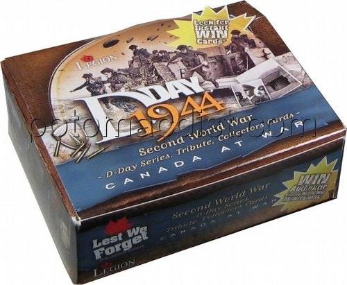 Lest We Forget: D-Day - Canada at War Trading Cards Box [English]