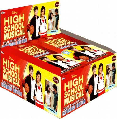 High School Musical 2 Expanded Edition Trading Cards & Stickers Box Case [8 boxes]