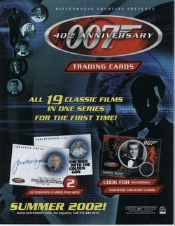 James Bond 40th Anniversary Trading Cards Box