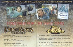 Lord of the Rings Trilogy Chrome Hobby Trading Cards Box Case [8 boxes]