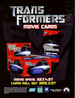 Transformers Movie Trading Cards Box Case [Hobby/8 boxes]