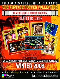 The Vintage Poster Collection: Classic Sci-Fi & Horror Poster Trading Cards Box Case [12 boxes]