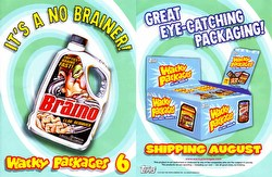 Wacky Packages All New Series 6 Stickers Box Case [Topps/Hobby/8 boxes]