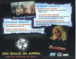 X-Men 2 Movie Trading Cards Box Case [Hobby/4 boxes]