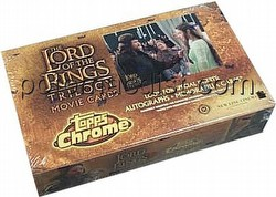 Lord of the Rings Trilogy Chrome Hobby Trading Cards Box