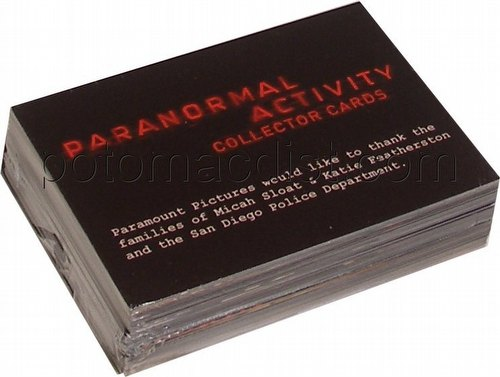 Paranormal Activity Movie Trading Cards Complete Base Set [50 cards]