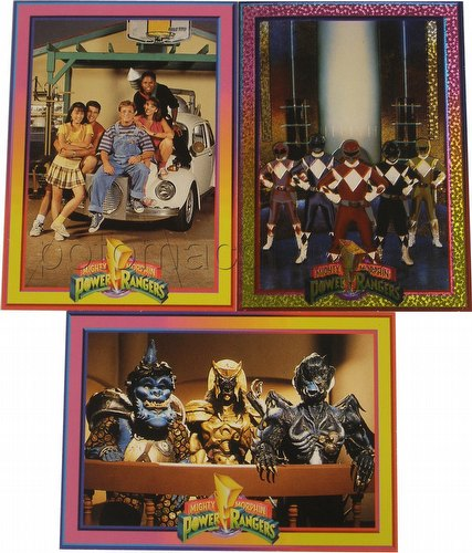 Power Rangers Series 1 3-Card Promo Set