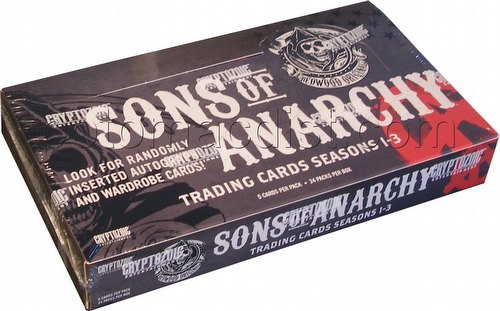 Sons of Anarchy Seasons 1-3 Trading Cards Box