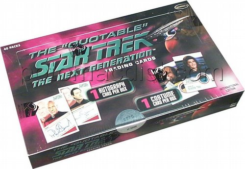 The Quotable Star Trek: The Next Generation Trading Cards Box [International Version]