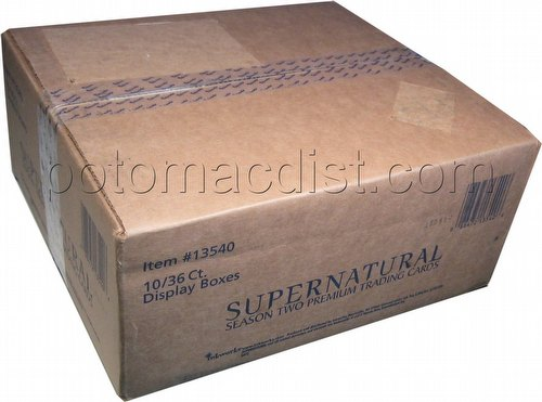 Supernatural Season 2 Premium Trading Cards Box Case [10 boxes]
