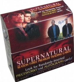 Supernatural Season 3 Premium Trading Cards Box
