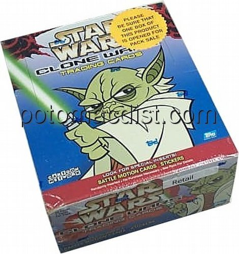 Star Wars Clone Wars Trading Cards Box [Topps/Retail]