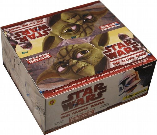 Star Wars: The Clone Wars Widevision Trading Cards Box [Retail]