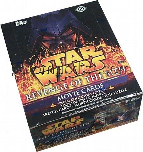 Star Wars Revenge Of The Sith Topps Hobby Box Potomac Distribution
